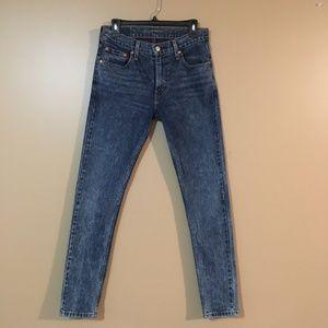 Levi's Blue Jeans Stretch Skinny Size 30 Vintage